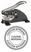 DS-158 - DS-158 EMBOSSING SEAL WITH SEAL BORDER